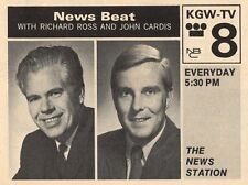 1969 KGW TV AD~RICHARD ROSS & JOHN CARDIS NEWS PORTLAND OREGON~News Beat