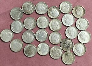 25 SILVER ~ 1964 & 1964-D Roosevelt Dimes ~ Denver & Philadelphia Mints