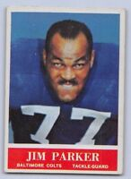 1964  JIM PARKER - Philadelphia Football Card - # 8 - BALTIMORE COLTS