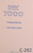 Cybelec SA Link 7000, Programming Manual 1985