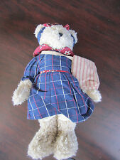 BOYDS Head Bean Best Dressed CAROLINE BEARAMERICAN plush BEAR NEW w/ tag 904902