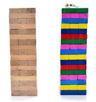 51 Rectangular Pcs Wooden Block Stack Crashing Game Tower Game Hardwood Set