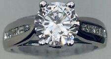 with a Cz Center 18K White Gold Bergio Engagement