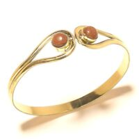 Sunstone Tibetan Silver Brass Bangel Cuff Bracelet Gemstone Jewelry