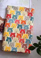 Pooh Teddy bears 100% Cotton Fabric Animal Colouful bear BY HALF YARD ff110+