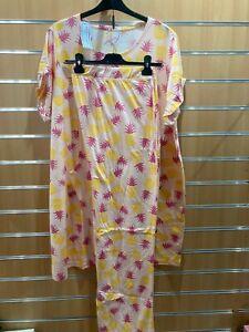 Pretty Secrets pyjama set bnip uk size 24-26 extra extra  long top