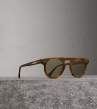 Burberry Vintage Tortoise Keyhole Round Frame Sunglasses Brown Gold ITALY $340
