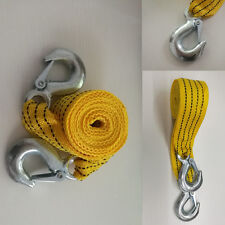 3000KG SOS 12ft SUPERSTRONG Road Emergency Trailer Rope Tow Rope Strap 2 Hooks