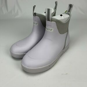 XtraTuf Mens Wheelhouse White Waterproof Ankle Deck Boots Shoes Size 7.5 / 8