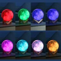 3D Aufdruck Sternklar Himmel Mond Lampe 16Color Wechsel Touch Switch Nacht Heim