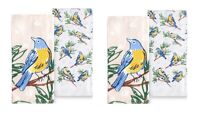 Celebrate Spring Together Kitchen Dish Towels BIRD ON GREY 4-Piece Set NEW