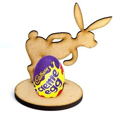 Wooden MDF Easter Nosey Rabbit Craft Creme Egg Holder Stand Perfect Easter Gift