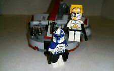 Lego Star Wars Cody and Capt. Rex Custom figures with Swamp Speeder and instr.