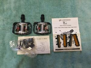 NEW VP COMPONENTS BIO CLEAT SILVER/ BLACK ALUMINUM PEDALS WITH CLEATS / BOLTS