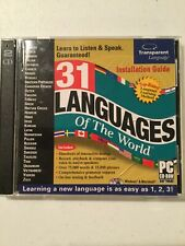 31 Languages of the worlds 2-Cd Learning to Speak Pc or Mac great condition