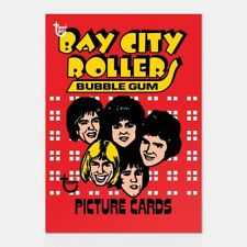 BAY CITY ROLLERS TOPPS 80TH ANNIVERSARY WRAPPER ART CARD #37 #Topps #Music #Pop