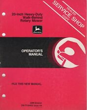 John Deere Walk- Behind Rotary Mower Operator'S Manual Om-Ty20663 A4 (567)