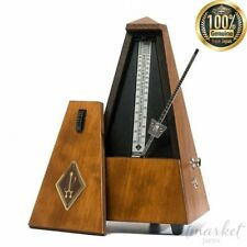 Wittner Solid Wood Metronome (Walnut) with Bell. Model 813m