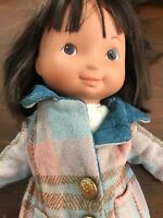 Mandy and Friends Fisher Price Doll with brown hair and vintage coat