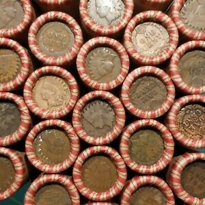 Double End Indian Head Wheat Penny Rolls Unsearched PDS VDB