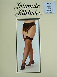 Intimate Attitudes by Shirley of Hollywood Sheer Red Stockings Plus Size