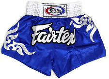New Fairtex Muay Thai Mma K1 Boxing Shorts Blue Satin Bs0624 Tribal