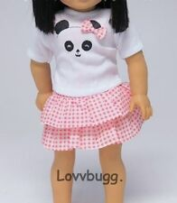 "Lucky Panda Skirt Set for 15"" 18"" American Girl Doll Clothes Found it! Lovvbugg!"