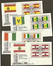 UN NY #528-543 Flags 1988 Set of 16 Artmaster B4FDCs