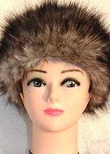 Faux Fur Hat GREY WOLF fluffy faux fur hat. Premium Quality