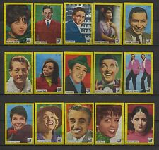 Nice Complete Set of 40 Movie, Radio and TV Stars Dutch Vintage Matchbox Labels