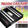 2 Channel HiFi Bass Slim Car 3800W Subwoofer Amplifier Board Metal Brushed