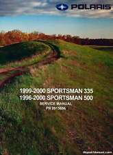 1996-2000 Polaris Sportsman 335 500 ATV Service Manual : 9915686