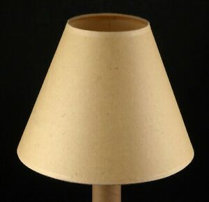 Beige Flecked Paper Lamp Shade Clip Sconce Table Empire Cone Shape 7x9 Vintage