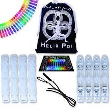 Double Helix Poi - UltraPoi LED Poi Set - Best Light Up Glow Poi Flow Rave Dance