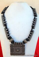 vintage antique tribal old silver necklace pendant traditional indian jewellery