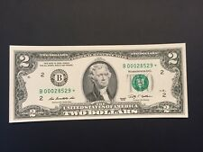 "Scarce Star note 2009 $2 TWO DOLLAR BILL ( NEW YORK ""B""),UNCIRCULATED"