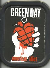 More details for green day american idiot 2004 oblong stash tin usa import - no longer made