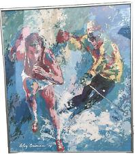 LARGE Mid Century LEROY NEIMAN Framed Olympics Giclee Print MCM