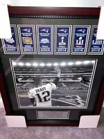 Tom Brady Photo Custom Framed to 16x20 New England Patriots Super Bowl