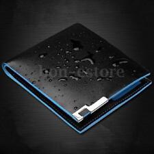 Men Leather Business Bifold Wallet Money Card Holder Coin Bag Purse Pocket Black