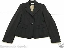 NEXT SIZE 8 GREY PIN STRIPE LADIES LINED JACKET 3W