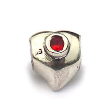 Heart Red Cz .925 Sterling Silver Large Hole European Charm Biagi Bead BSCZ06