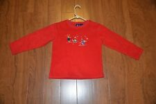 Girl's long sleeve pullover, red, size: Small (7/8), VGC