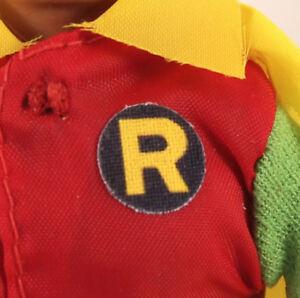 "Mego 8"" Robin Action Figure Part- Repro Pre-Cut FABRIC Sticker,Emblem,Decal"