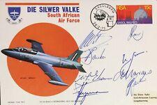 South African Air Force: Die Silwer Valke Display Team Multi-Signed Flown Cover