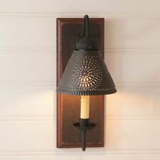 Crestwood wall Sconce light in Espresso with Salem Brick