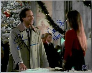 Chevy Chase - Nicolette Scorsese Dual Signed Christmas Vacation Mary 8x10 Photo