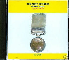 THE ARMY OF INDIA MEDAL ROLL 1799-1826 CD ROM