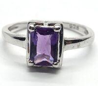 Vintage Sterling Silver Ring 925 Size 6 Amethyst