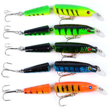 Lot of 5pcs Fishing Lures Crankbaits Hook Minnow Baits Tackle Crank Fishing Set
